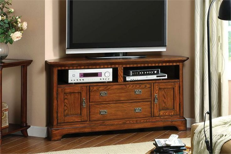 Impressive Well Known Dark Wood Corner TV Stands Intended For Tv Stands Top 55 Inch Tv Stands Cherry Wood Ideas Tall Tv Stands (Image 25 of 50)