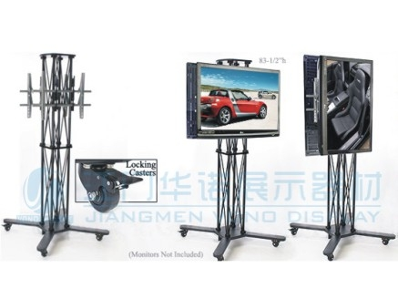 Impressive Well Known Double TV Stands Inside Double Lcd Stand Folding Caster Truss Ls 003 Sales And (Image 29 of 50)