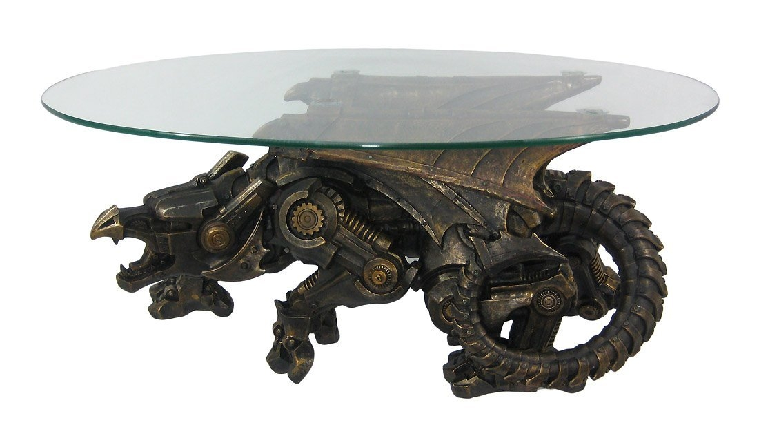 Impressive Well Known Dragon Coffee Tables Throughout Steampunk Dragon Coffee Table Is A Thing That Is Real Offbeat (Image 34 of 50)