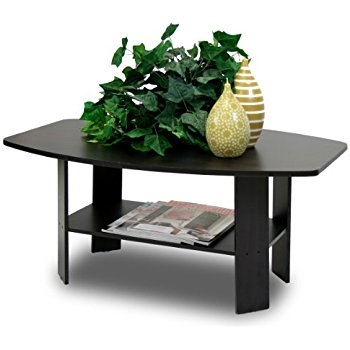 Impressive Well Known Espresso Coffee Tables Pertaining To Amazon Furinno 11158exbr Coffee Table With Bins Espresso (View 26 of 50)