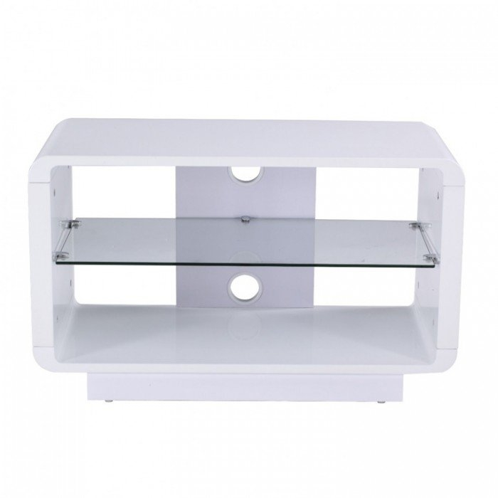 Impressive Well Known Gloss White TV Stands Regarding Luna Adlu800 Wht High Gloss White Tv Stand (Image 32 of 50)