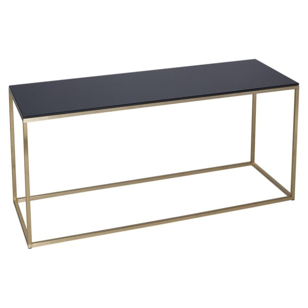 Impressive Wellknown Gold TV Stands With Regard To Buy Black Glass And Gold Metal Tv Stand From Fusion Living (Image 36 of 50)