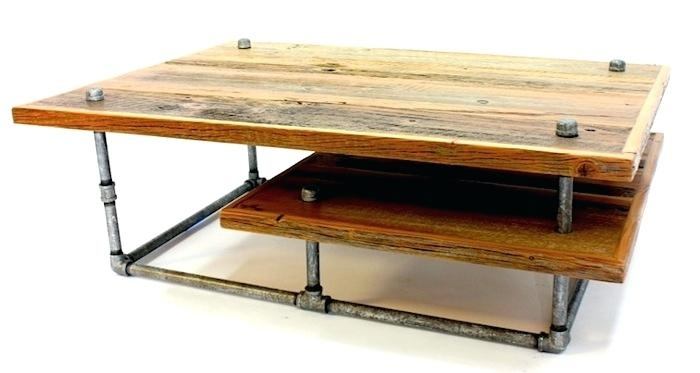Impressive Wellknown Industrial Style Coffee Tables In Coffee Table Industrial Style Coffee Table Made Out Of Wood And (Image 26 of 50)