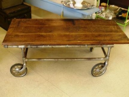 Impressive Wellknown Industrial Style Coffee Tables Throughout Industrial Style Coffee Table Other Finds Junkmarket Style (View 42 of 50)