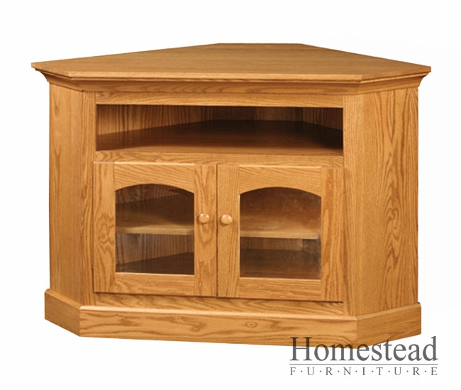 Impressive Wellknown Light Oak Corner TV Cabinets With Custom Built Hardwood Furniture Homestead Furniture Made In Usa (Image 36 of 50)