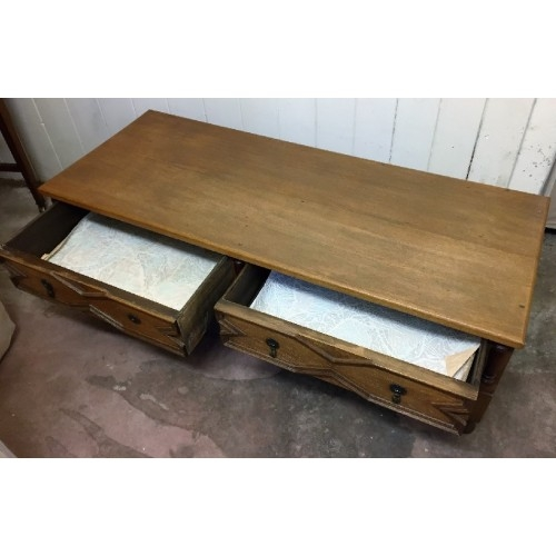Impressive Wellknown Low Coffee Tables With Drawers With Regard To Two Drawer Coffee Table Low Tv Stand Sold (Image 34 of 50)