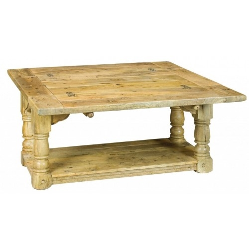 Impressive Wellknown Mango Wood Coffee Tables Inside Rustic Distressed Mango Wood Extending Trilogy Coffee Table With (Image 25 of 50)