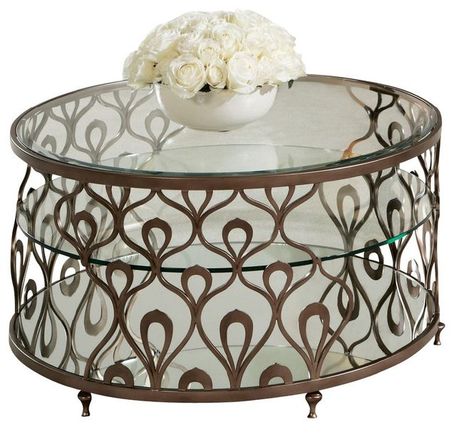 Impressive Well Known Metal And Glass Coffee Tables Regarding Round Metal Coffee Table With Glass Top (View 44 of 50)