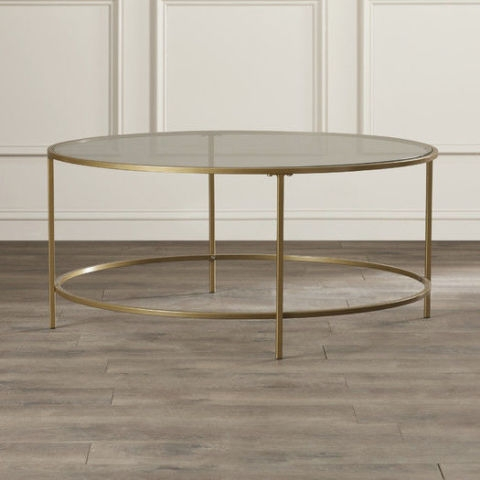 Impressive Well Known Metal Oval Coffee Tables Intended For 12 Best Glass Coffee Tables In 2017 Glass Top Coffee Table Reviews (View 31 of 50)