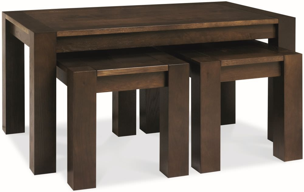 Impressive Wellknown Nest Coffee Tables With Buy Bentley Designs Lyon Walnut Nest Of Coffee Table Online Cfs Uk (Image 27 of 50)