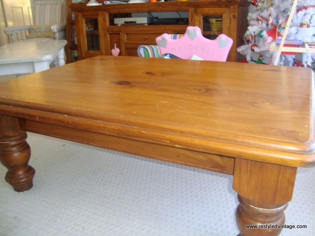 Impressive Wellknown Old Pine Coffee Tables Within Restyled Vintage Tutorial How To Turn Your Honeyed Pine (Image 25 of 50)