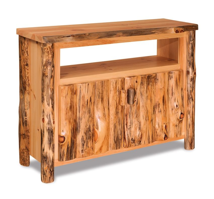 Impressive Well Known Pine TV Stands With Pine Log Furniture Tv Stand (Image 29 of 50)