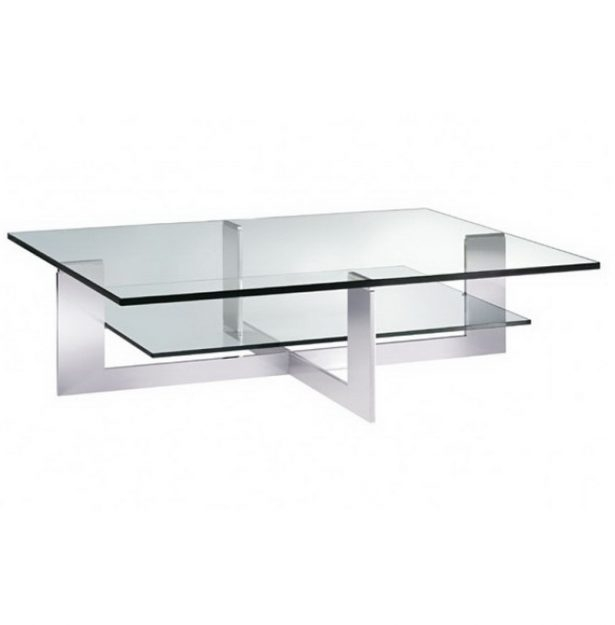 Impressive Wellknown Rectangle Glass Chrome Coffee Tables Pertaining To Chrome Coffee Table 15 Amazingly Modern And Stylish Designs (Image 31 of 50)
