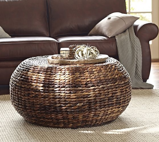 Impressive Well Known Round Woven Coffee Tables Intended For Perfect Round Seagrass Coffee Table (Image 37 of 50)