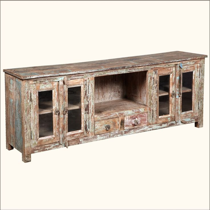 Impressive Well Known Rustic White TV Stands Regarding 20 Best Furniture Images On Pinterest Media Consoles Reclaimed (View 43 of 50)