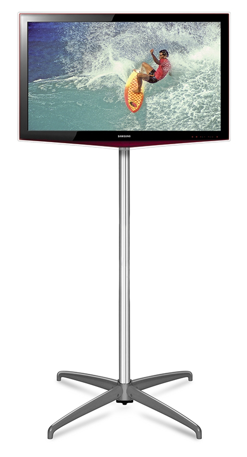 Impressive Well Known Single TV Stands With Regard To Exhibition Tv Stand Free Standing Monitor Mount (View 9 of 50)