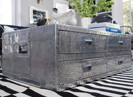 Impressive Wellknown Stainless Steel Trunk Coffee Tables With Regard To Coffee Table Advertisementssteamer Trunk Coffee Table Stainless (View 18 of 50)