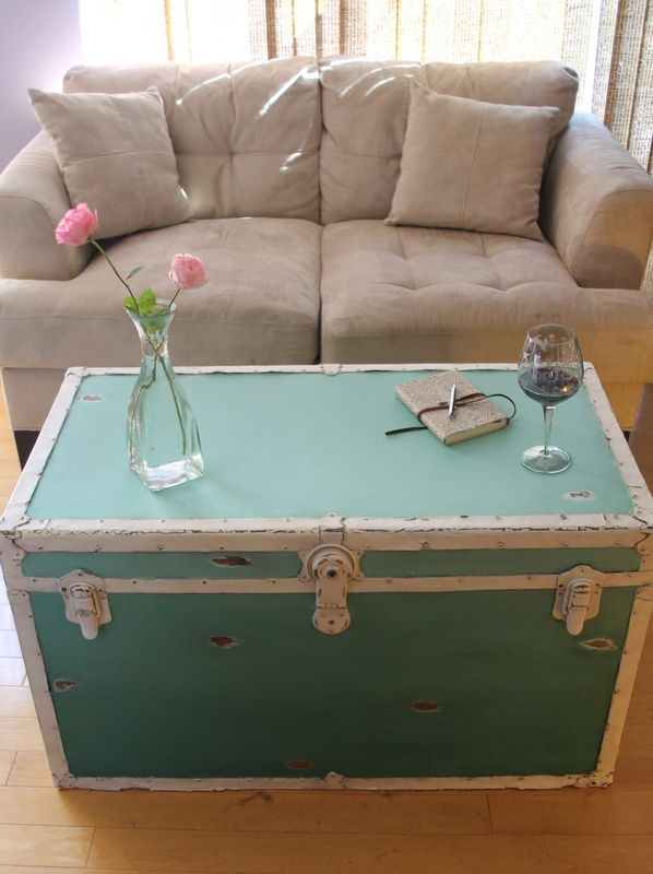 Impressive Wellknown Steamer Trunk Stainless Steel Coffee Tables In Best 25 Trunk Coffee Tables Ideas On Pinterest Wood Stumps (View 37 of 50)