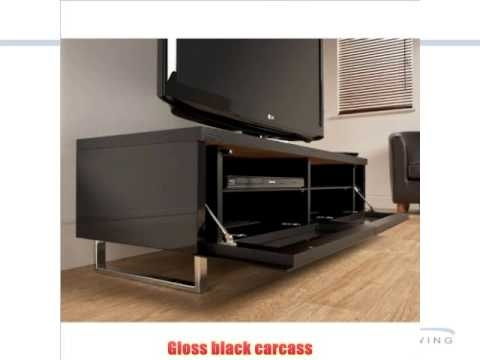 Impressive Well Known Techlink TV Stands Sale Intended For Tech Link Panorama 55 Tv Stand In Black Youtube (Image 28 of 50)