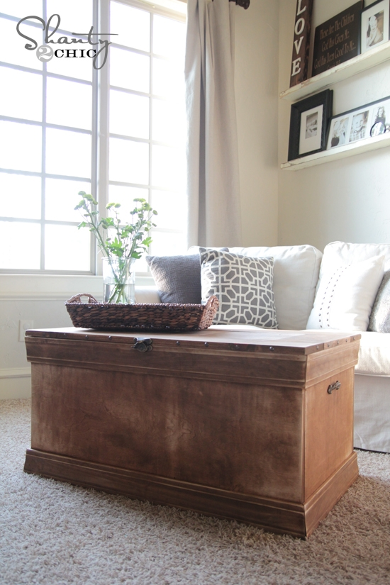 Impressive Well Known Trunk Coffee Tables Throughout Pottery Barn Inspired Chest Coffee Table Shanty 2 Chic (Image 32 of 50)
