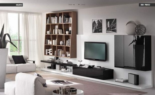 Impressive Wellknown TV Stands And Bookshelf Within Living Room Tv Wall Design Floating Tv Stand Moden Design (View 37 of 50)