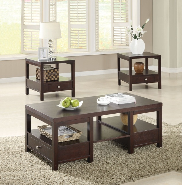 Impressive Well Known Wayfair Coffee Table Sets Intended For Wayfair Coffee Table Sets (Image 27 of 50)