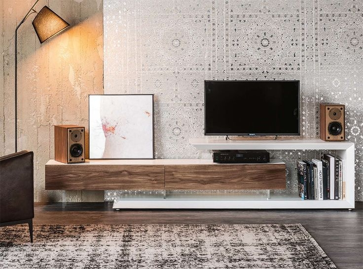 Impressive Well Known White Contemporary TV Stands Regarding Best 25 Modern Tv Stands Ideas On Pinterest Wall Tv Stand Lcd (Image 24 of 50)
