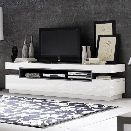 Impressive Wellknown White High Gloss TV Stands Unit Cabinet Within Best 25 White Tv Unit Ideas On Pinterest White Tv Ikea Tv And (Image 30 of 50)