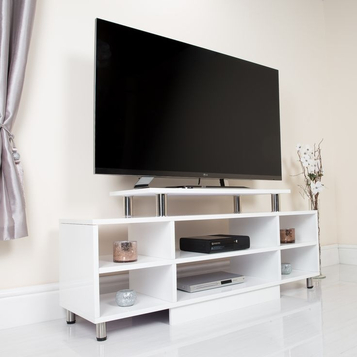 Impressive Wellknown White TV Stands For Flat Screens Throughout 29 Best Tv Stands Images On Pinterest Tv Stands Entertainment (Image 34 of 50)