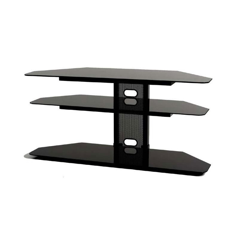 Impressive Wellliked 32 Inch Corner TV Stands For Transdeco Black Glass Corner Tv Stand For 32 52 Inch Screens Black (Image 28 of 50)