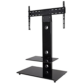 Impressive Wellliked Cantilever TV Stands With Cantilever Tv Stand Mmt Black Glass For 32 Inch To Amazonco (Image 28 of 50)