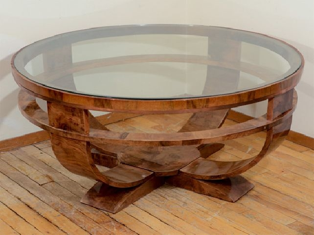Impressive Wellliked Circular Coffee Tables Throughout Large Round Coffee Table Wood (View 39 of 40)