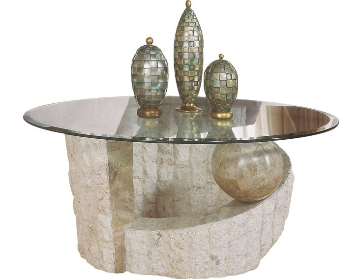 Impressive Wellliked Glass And Stone Coffee Table Within Catalina Coffee Table Bricks Decor Styles And Living Rooms (Image 26 of 50)