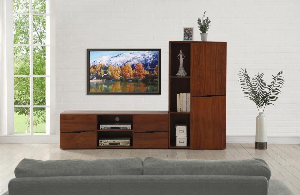 Impressive Wellliked Modern Walnut TV Stands Intended For Jual Bella Modern Walnut Tv Stand 150cm Tv Media Units (View 31 of 50)