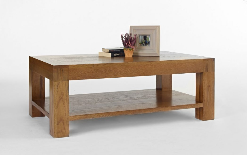 Impressive Wellliked Oak Coffee Tables With Shelf Regarding Oak Coffee Table With Shelf Coffee Tables Thippo (Image 24 of 40)