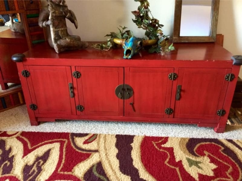 Impressive Wellliked Red TV Stands Regarding Mei Tv Stand Antique Red For Sale In Pearland Tx 5miles Buy (Image 29 of 50)