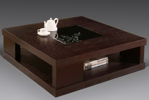 Featured Image of Square Dark Wood Coffee Table