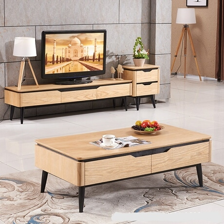 Impressive Wellliked TV Stand Coffee Table Sets Within Furniture Tv Table Set Promotion Shop For Promotional Furniture Tv (View 32 of 50)