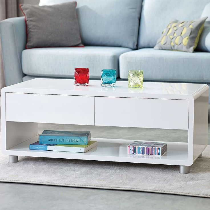 Impressive Wellliked White Gloss Coffee Tables Pertaining To Best 25 White Gloss Coffee Table Ideas On Pinterest Table Tops (View 8 of 50)