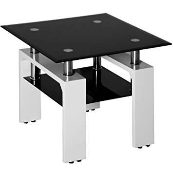 Impressive Wellliked Wooden And Glass Coffee Tables In Amazon Merax Glass Coffee Table Sofa Side Table Square End (View 50 of 50)