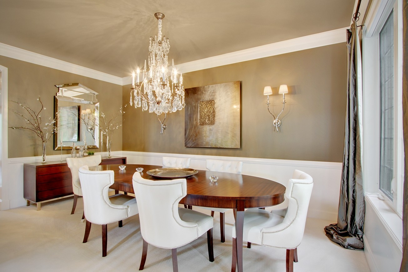 Impressive White Shade Hanging Chandeliers In Your Modern And In Leather Chandeliers (Photo 22 of 25)