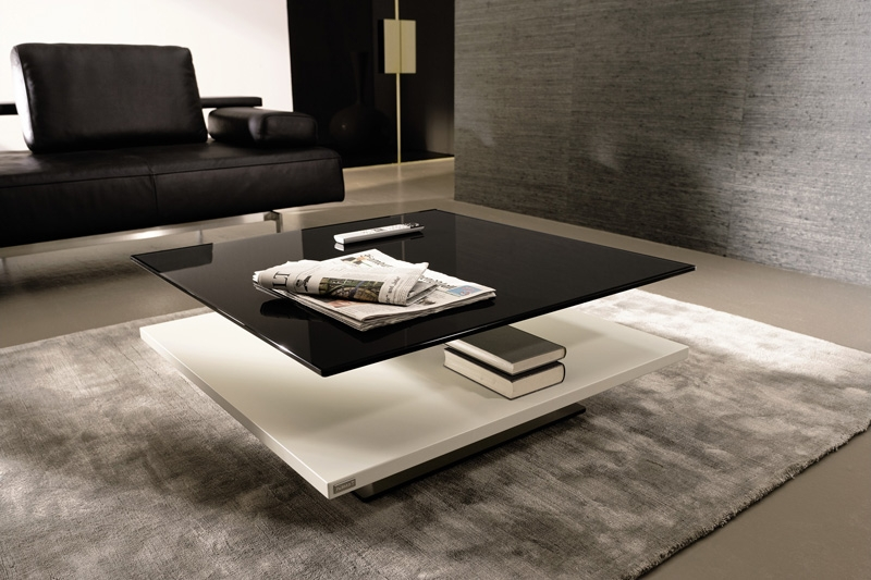 Impressive Widely Used Black Glass Coffee Tables With Regard To Modern Black Glass Coffee Table Table And Estate (Image 36 of 50)