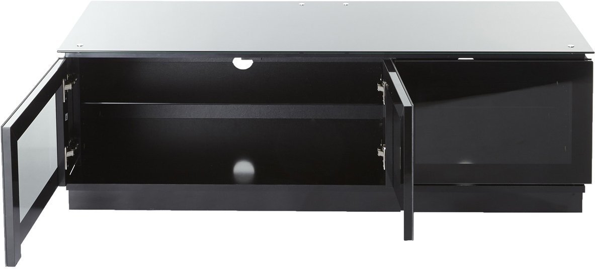 Impressive Widely Used Black TV Cabinets With Doors Regarding Mmt D1350 Black Tv Stands (Image 34 of 50)