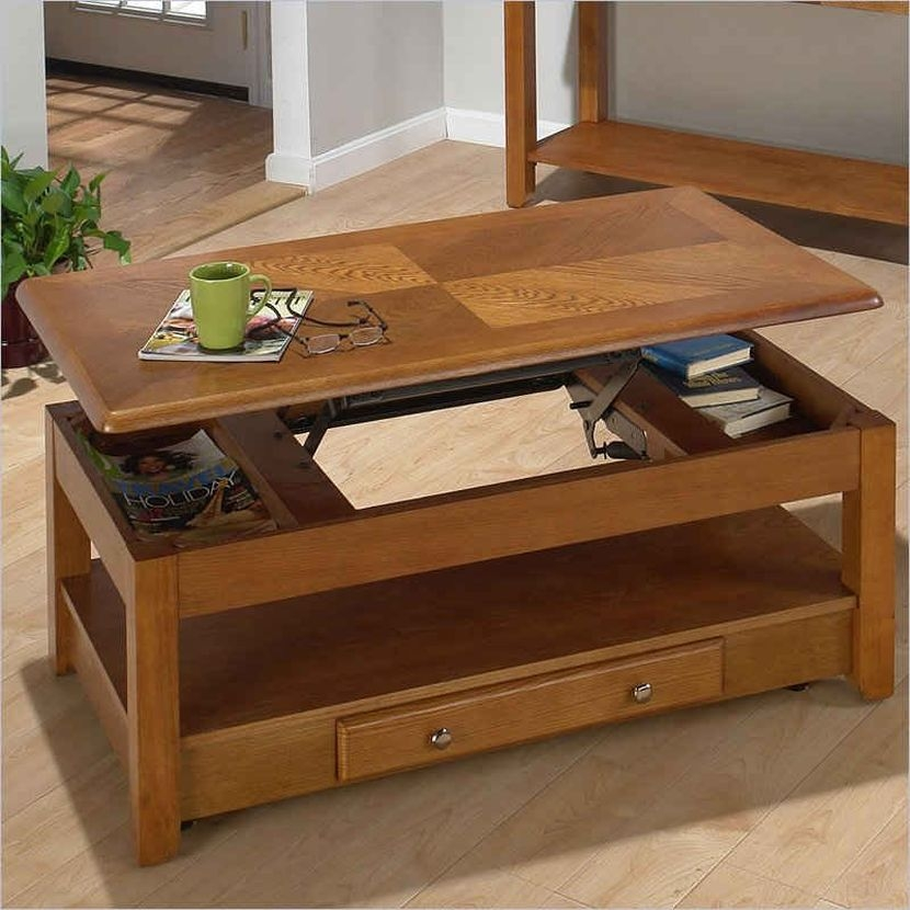 Impressive Widely Used Coffee Tables With Lift Top And Storage Regarding Coffee Table Extraordinary Coffee Table That Lifts Up Design Lift (Image 24 of 50)