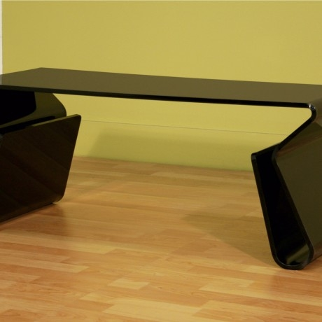 Impressive Widely Used Coffee Tables With Magazine Storage Regarding Black Modern Acrylic Coffee Table With Magazine Storage In Coffee (Image 27 of 50)