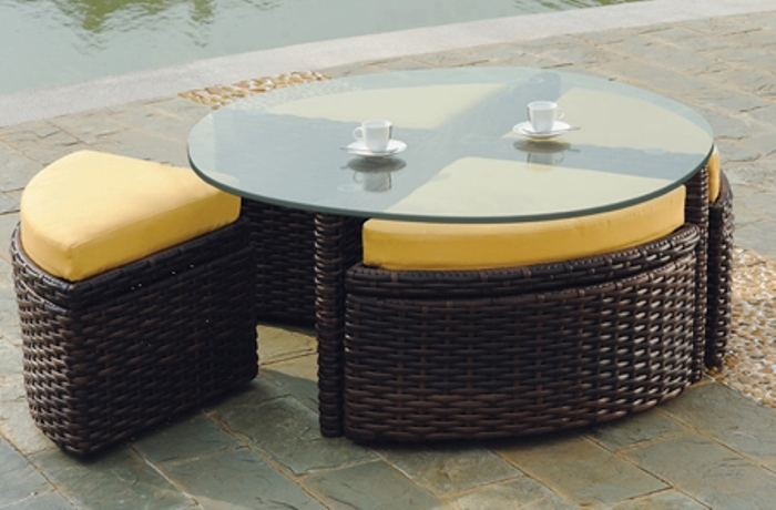 Impressive Widely Used Coffee Tables With Nesting Stools Pertaining To Round Coffee Table With Nesting Stools Coffee Table Stools (Image 30 of 50)