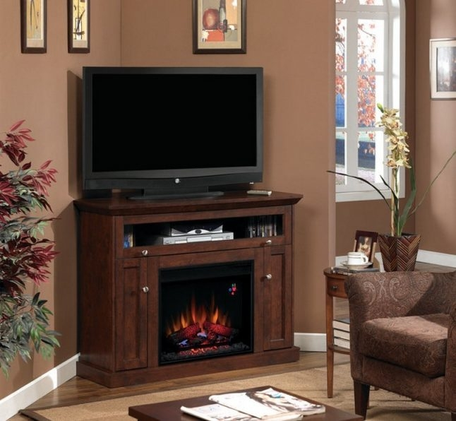 Impressive Widely Used Dark Brown Corner TV Stands Regarding Tv Stands Elegant Black Corner Tv Stand For 55 Inch Tv Ideas (View 32 of 50)