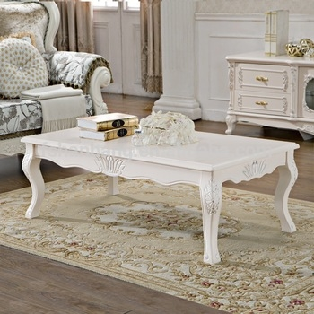 Impressive Widely Used French White Coffee Tables For Ivory White Hand Carved Wooden Baroque French Furniture Coffee (View 40 of 50)