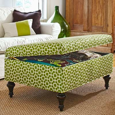 Impressive Widely Used Green Ottoman Coffee Tables Throughout Magnificent Coffee Table Storage Ottoman 27 Incredible Man Cave (Image 29 of 50)