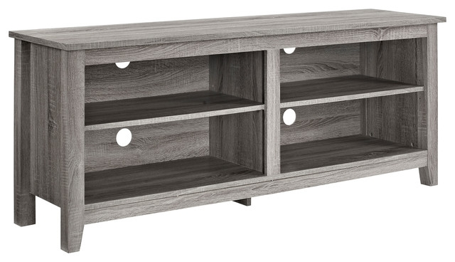 Impressive Widely Used Grey TV Stands Inside 58 Wood Tv Stand Console Beach Style Entertainment Centers (Image 34 of 50)